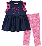 Juicy Couture Girls' Big 2 Pieces Tunic Set, Navy/Pink, 7