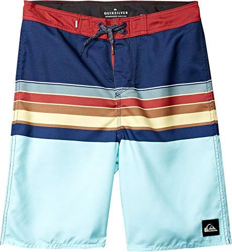 Quiksilver Boys' Big Everyday SWELL Vision Youth 18 Boardshort Swim Trunk, Blue Night, ()