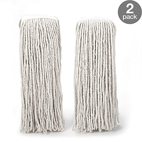 Cotton Looped End Wet Mop (O-Cedar Heavy Duty Looped-End String Mop Refills 2 Pack)