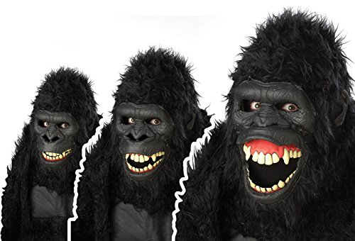 California Costumes Goin Ape Ani-Motion Mask, Black, One Size