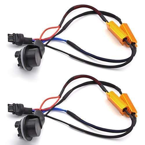 (TUINCYN 2pcs 50W 8 ohm 3157 3047 3057 3155 3457 Led Load Resistors - Fix Headlight LED Bulb Fog Lamp Fast Hyper Flash Turn Signal Blink Light Error Code Canbus)