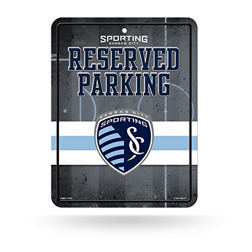 Rico Industries MLS Sporting Kansas City 8-Inch by 11-Inch Metal Parking Sign Décor (Sporting Kansas City Poster)