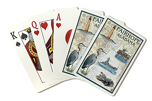 Fairhope, Alabama - Nautical Chart (Playing Card Deck - 52 Card Poker Size with ()