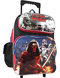 Large Rolling Backpack - Star Wars - The Force Awakens Silver New 663810