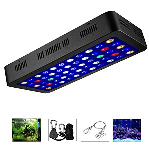 LED Aquarium Lights by ZXMEAN,165W Dimmable Full Spectrum Fish Tank Light for Coral Reef Water Plants and Fish (Reef Tank Corals)