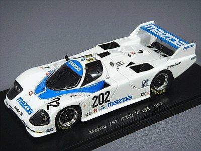 1/43 Mazda 757 7th LM 1987 #202 (ホワイト×ブルー) S0641