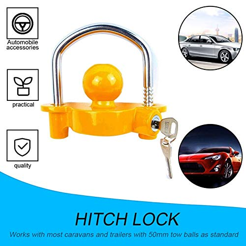 sahnah Trailer Coupling Hitch Lock Trailer Parts Universal Tow Ball Trailer Accessory