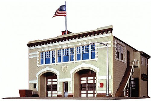 Life-Like Trains  N Scale Building Kit -Volunteer Fire Company (Structure Kit)