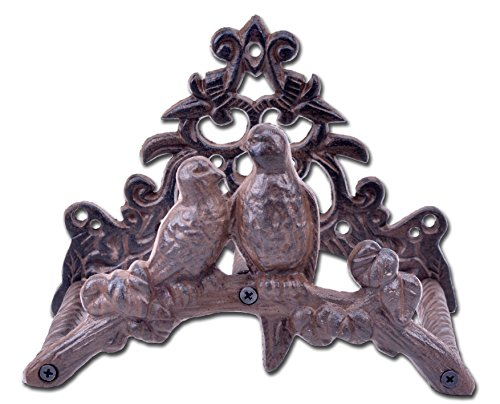Import Wholesales Cast Iron Garden Hose Holder Love Birds 8.75
