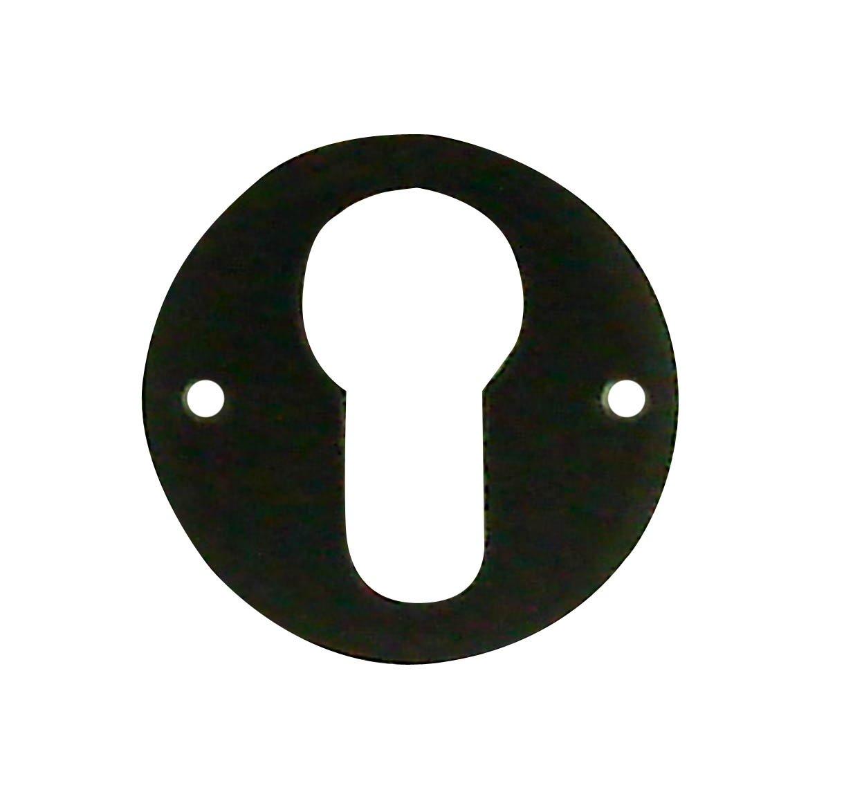 DT 2000 161482 - Juego de 2 rosetones cilí ndricos de hierro, color negro