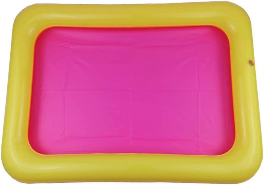 Bandeja Piscina Interior De Juegos Juguetes Bandeja De Arena Castillo Inflable Móvil Tabla PVC Sandbox Sensorial Bandeja Divertido para Los Niños: Amazon.es: Juguetes y juegos