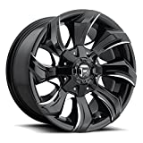 Fuel Stryker 20x10 Black Milled Wheel / Rim 8x6.5 with a -18mm Offset and a 125.2 Hub Bore. Partnumber D57120008247