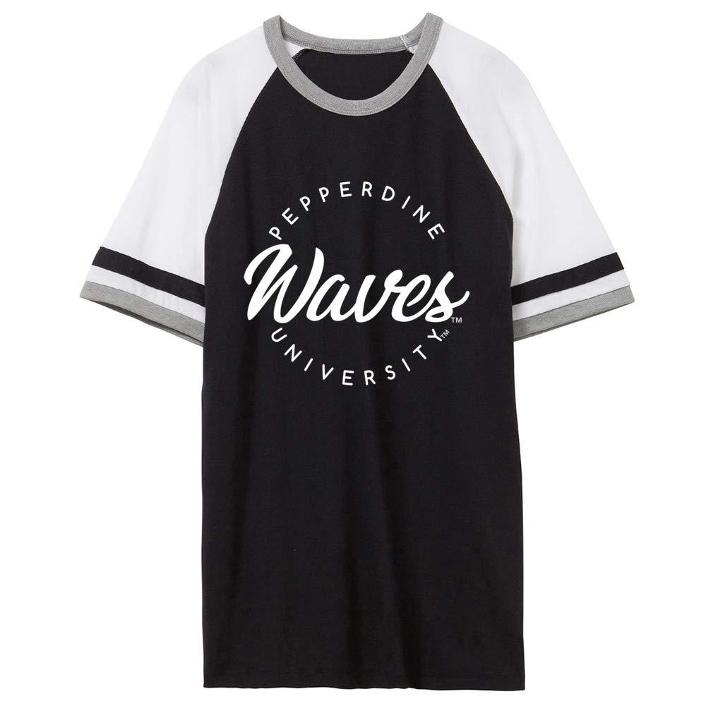 NCAA Pepperdine Waves RYLPEP04 Unisex Slapshot Vintage Jersey T-Shirt
