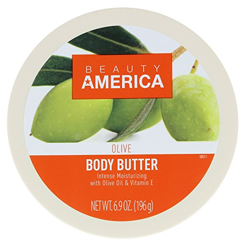 Beauty America Intense Moisturizing Body Butter With Olive Oil & Vitamin E, 6.9 Ounce
