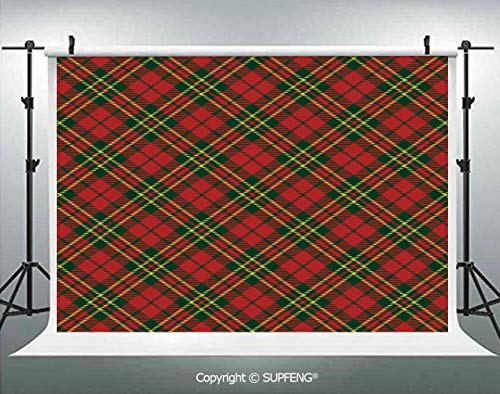 - Photography Backdrops Irish Tartan Plaid Motifs in Christmas Colors Geometrical Crossed Stripes Decorative 3D Backdrops for Photography Backdrop Photo Background Studio Prop