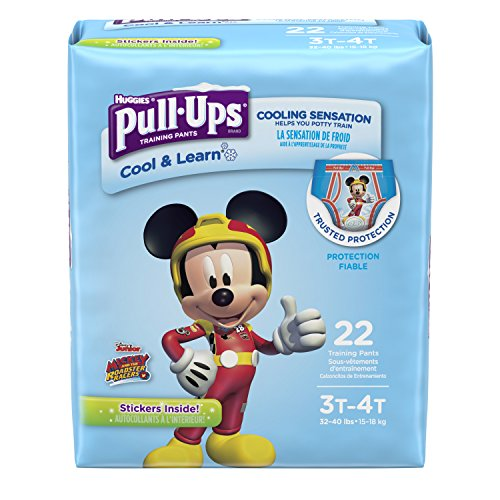 Pull-Ups Cool & Learn Potty Training Pants for Boys, 3T-4T (32-40 lb.), 22 Ct. (Packaging May Vary)
