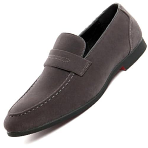Bebete5858 Extra particulièrement Grande taille 48 Mode Grande taille Cuir  Bateau. Chaussures Slip on décontracté de4501af2192