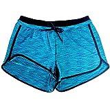TUDUZ Women Short Pants Lady Summer Camouflage Workout Yoga Hot Shorts Drawstring Wide Leg Pants Casual Sports Shorts (YCBlue, S)