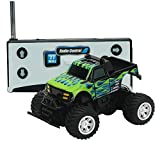 VGEBY Kids Toy RC Remote Control Car 27/40MHz for Children Brirthday Christmas Gift (Color : Black+Green)