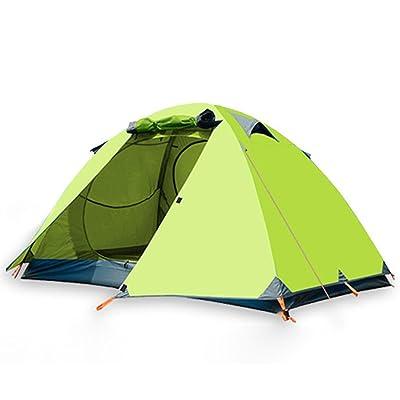 équipement tente de camping en plein air plus que le double compte Voyage superposé affiché quelques procès contre la tempête