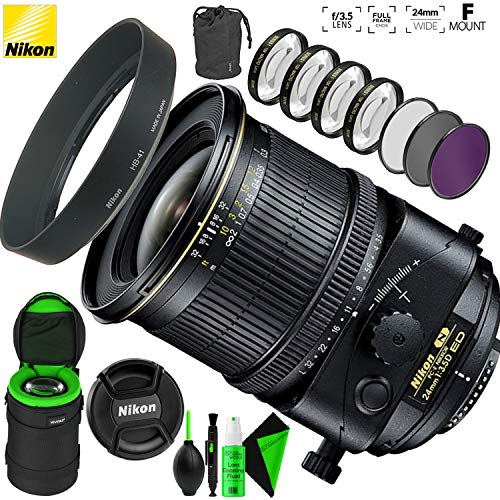 Nikon PC-E NIKKOR 24mm f/3.5D ED Tilt-Shift Lens with Creative Filter Kit and Pro Cleaning Accessories