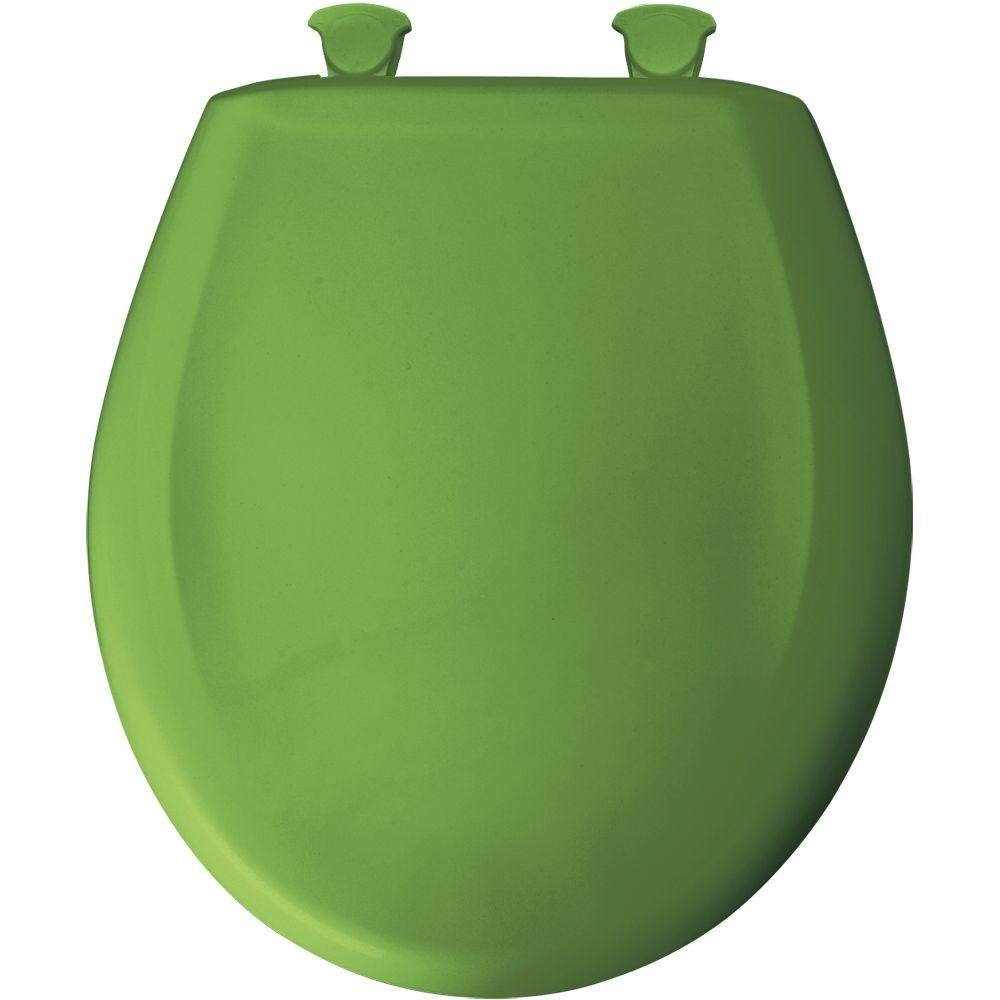 Bemis 200SLOWT 255 Lift-Off Plastic Round Slow-Close Toilet Seat, Fresh green