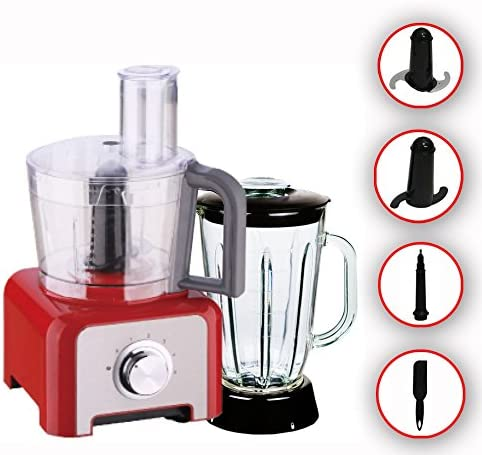 1200 W Robot de cocina Acero inoxidable batidora licuadora Ice Crusher Multi Licuadora DMS® rojo: Amazon.es: Hogar