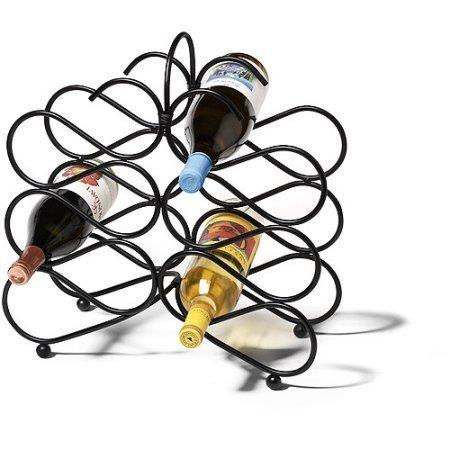 Scroll 12-Bottle Wine Rack Black by Spectrum