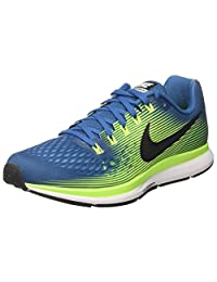 Nike Men's Air Zoom Pegasus 34, WOLF GREY/WHITE-RACER BLUE