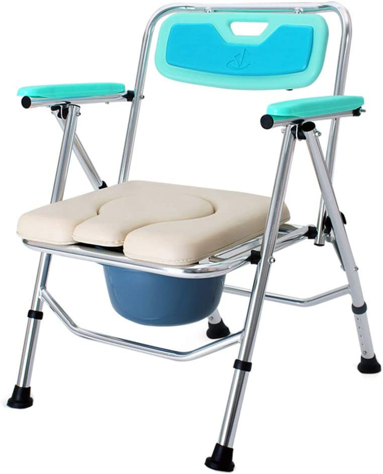 Bedside Commodes Bedroom Toilet Chair, Toilet Seats & Commodes Toilet Shower Toilet, Folding Portable Commode Toilet seat and Frame for The Disabled, Elderly/Pregnant/Disabled Toilet Chair 5182sN7esuLSL1000_