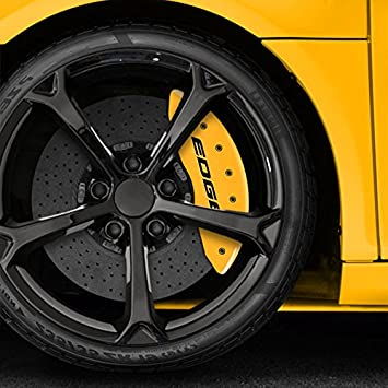 Yellow Edge Caliper Covers For   Ford Edge W  Rotor By