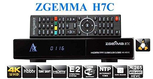 Gmax Zgemma H7C 4K 3 Tuners 1 x DVB-S2X + 2 x DVB-T2/C Satellite IPTV  Receiver Set top Box