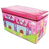 Princess Caja de Juguetes/Asiento con diseño de Princesas Storage Box