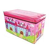 Princess Storage Box Kids Childrens Large Storage Toy Box Boys Girls Books Chest Clothes Seat Stool Shopmonk (Princess)
