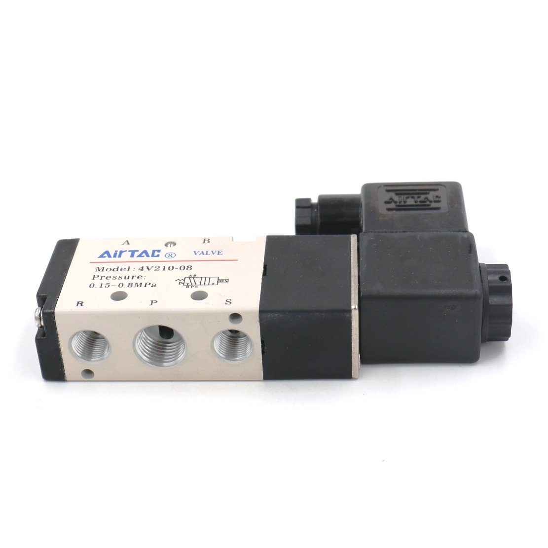 Baomain Pneumatic Air Control Solenoid Valve 4V210-08 DC24V 5 Way 2 Position PT1/4'' Internally Piloted Acting Type Single Electrical Control by Baomain (Image #2)