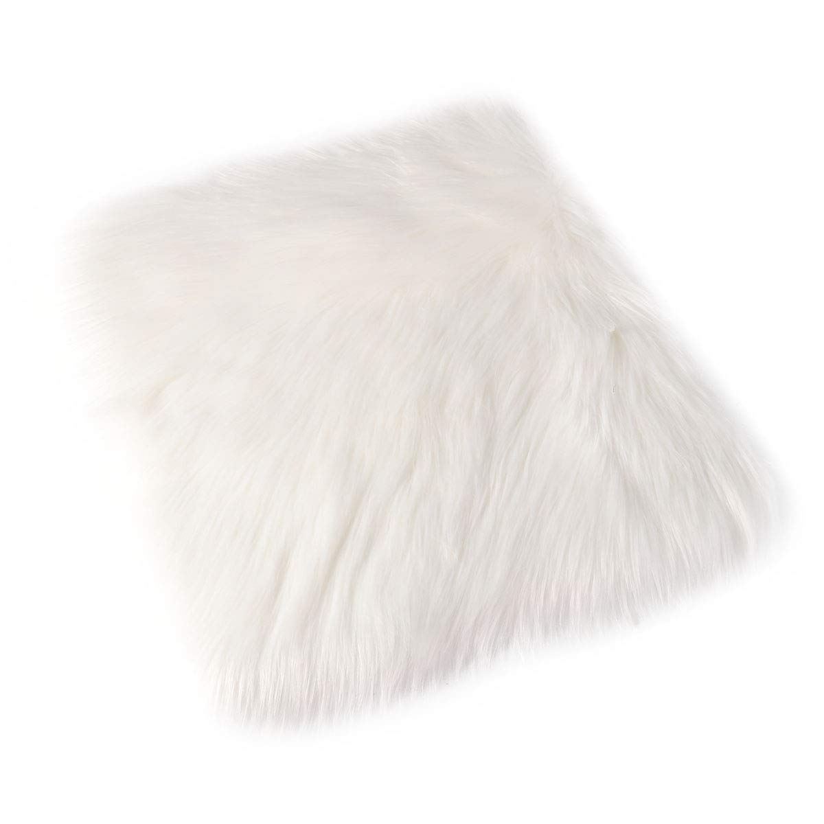 VORCOOL Soft Shaggy Faux Fur Chair Couch Cover Area Rug Yoga Window Home Office Chair Pad 4040cm
