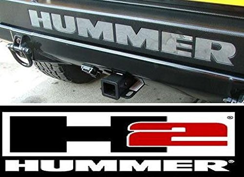 Mirror Chrome Letter Inserts For Hummer H2 Rear Bumper US New Free Shipping