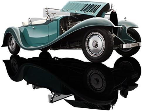 Bauer Exclusive Bugatti Royale Roadster esders 1932: Fidèle, modèle Voiture 1: 18, Haute Qualité avec Portes et Le Capot pour Ouvrir, modèle terminé, Vert (1990tz68)