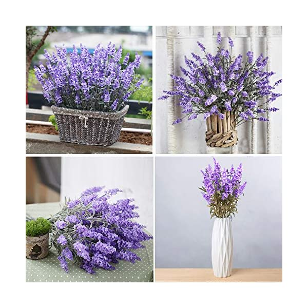 Guagb-Artificial-Lavender-Silk-Flowers-Plastic-Fake-Plant-Make-a-Bountiful-Flower-Arrangement-Decor-Your-Outdoor-Indoor-House