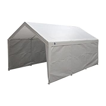 True Shelter 10u0027 x 20u0027 Car Canopy Gazebo Tent Cover 8 Legs Steel Frame  sc 1 st  Amazon.com & Amazon.com: True Shelter 10u0027 x 20u0027 Car Canopy Gazebo Tent Cover 8 ...