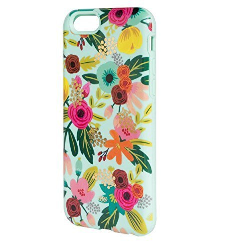 Rifle Paper Co iPhone 6 / 6s Inlay Mint Floral Everyday Protective Dual Layer Case