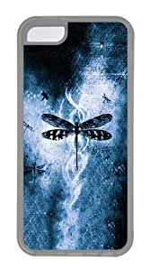 IMARTCASE iPhone 5C Case, Dragonfly Background Case for Apple iPhone 5C TPU - White