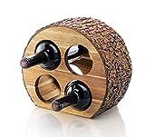 Artaste 48537 Acacia Wood Countertop Wine Rack with Natrual Bark, 4-Bottles Review