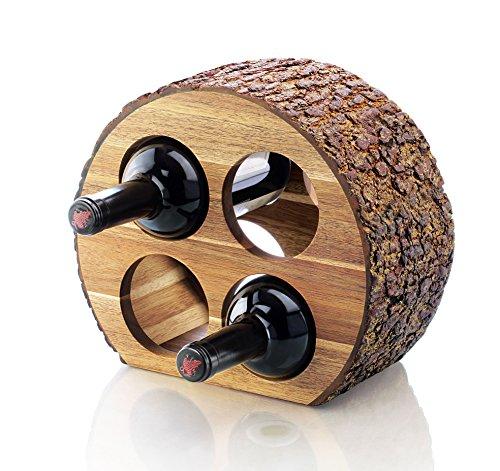 Wood Top Wine Rack - 5