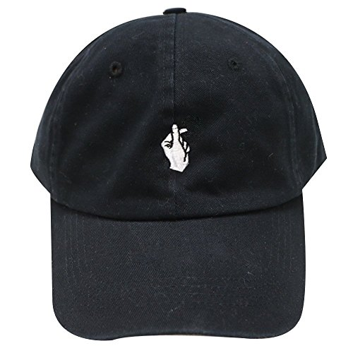 Finger Heart Embroidered Dad Hat 100% Cotton Baseball Cap For Men And (Embroidered Hearts)