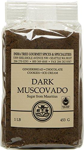 India Tree Dark Muscovado Sugar, 1 Pound (Pack of 6)