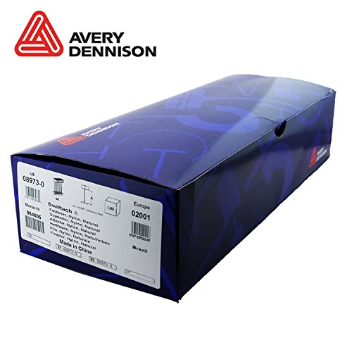 Avery Dennison 08973 1/2 (15MM) Heavy Duty Natural Tagging Fasteners Barbs from Avery Dennison