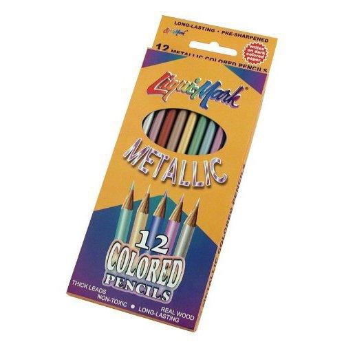 Liqui-Mark Metallic Colored Pencils - Metallic Colored Pencils, Set of 12