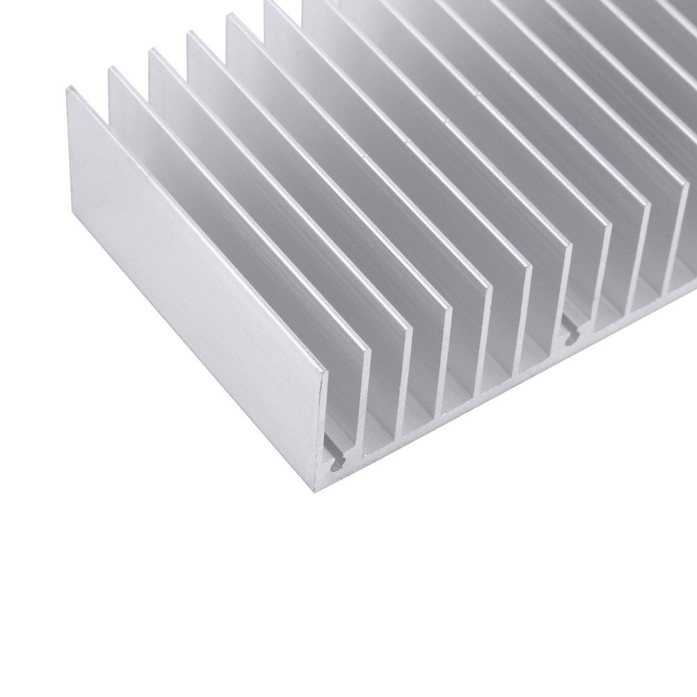 Aluminum Heatsink Cooling Radiator Heat Sink Dense 24 Teeth 150mm 1pc Akozon Heatsink