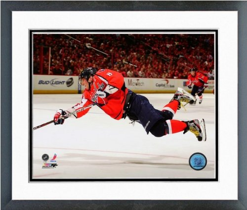 "Alex Ovechkin Washington Capitals NHL Action Photo (Size: 12.5"" x 15.5"") Framed"